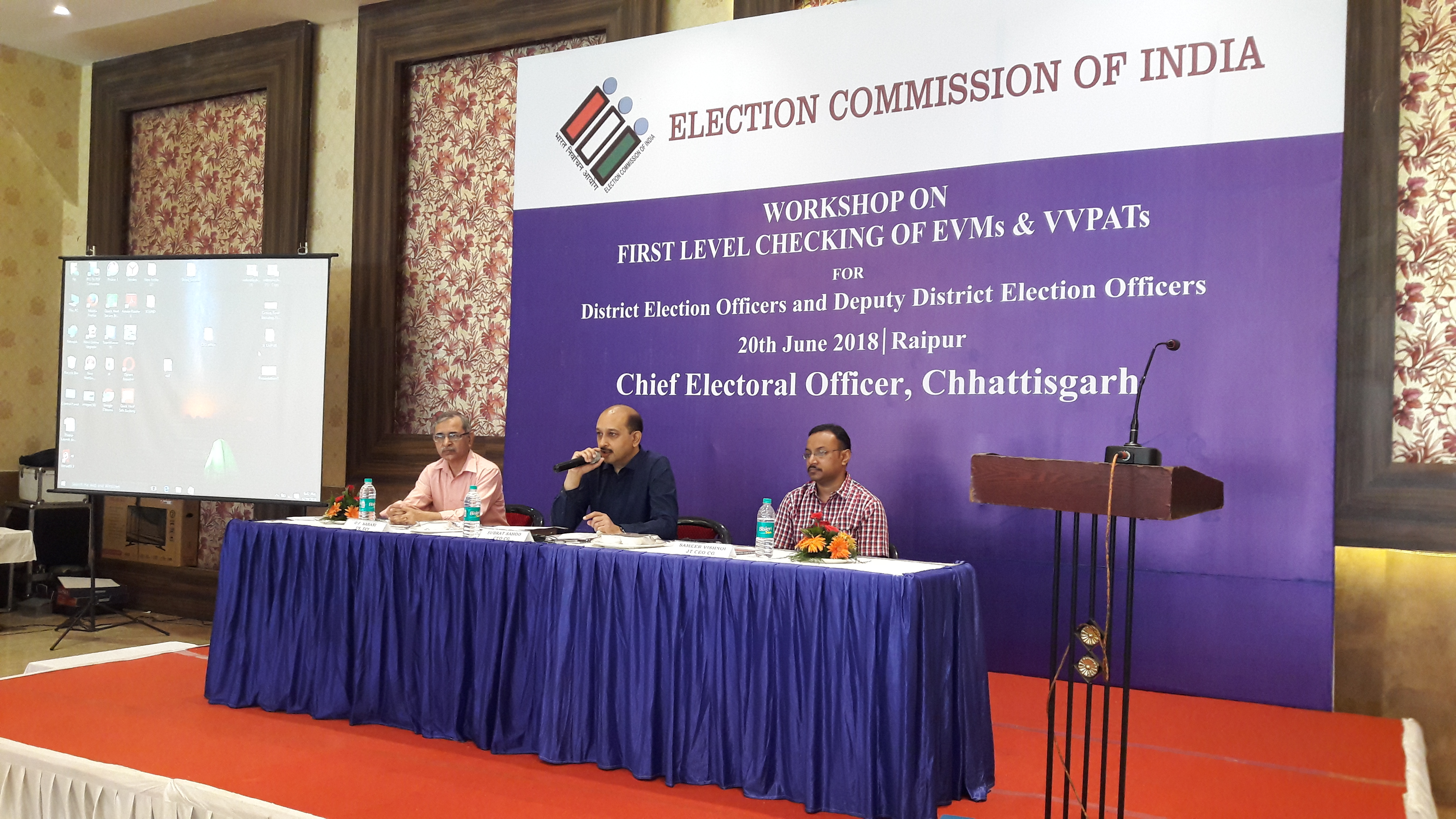 Workshop on First Level Checking of EVMs and VVPAT